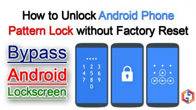 How to unlock android phone pattern lock without factory reset