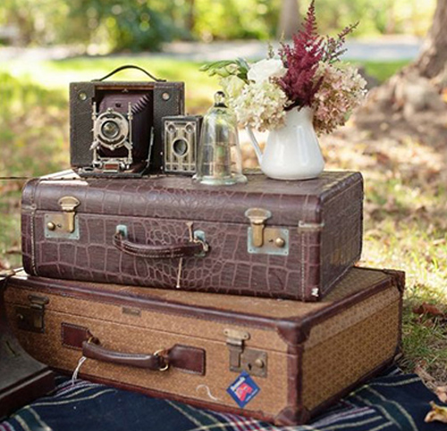 Anniversary Decoration with Suitcases